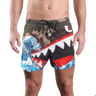 Costume Mare Shark Wave, Verde