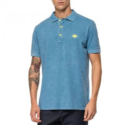 Polo In Puro Cotone, Blu