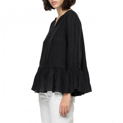 Pure Linen Shirt With...
