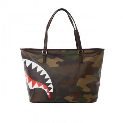 Checks & Camo Tote, Marrone