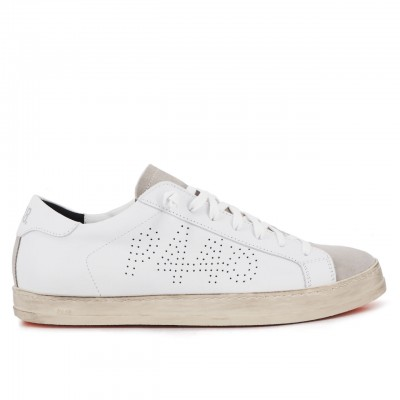 Sneaker John Whi/Ora, Bianco