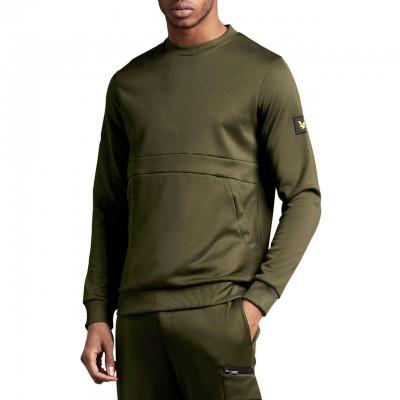 Zip Pocket Sweatshirt, Green
