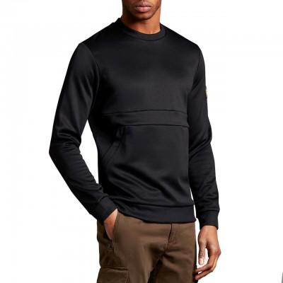 Zip Pocket Sweatshirt, Black