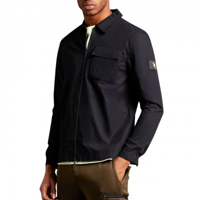 Overshirt With Zip, Black