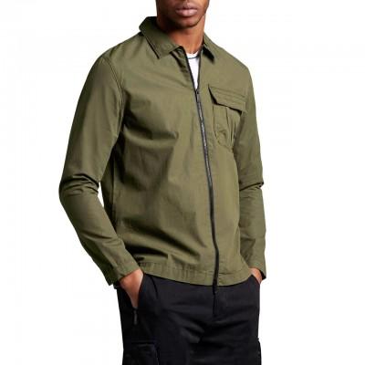 Overshirt With Zip, Green