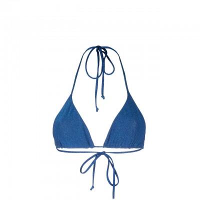Leah Classic Triangle Top, Blu