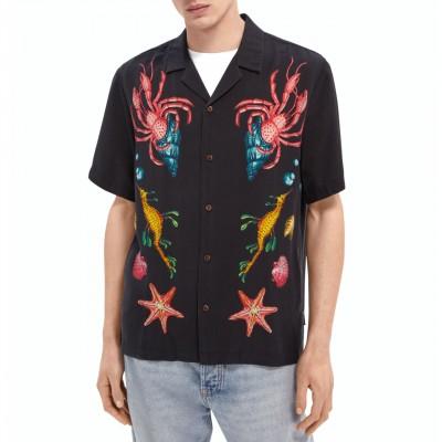 Hawaiian Lyocell Shirt With...