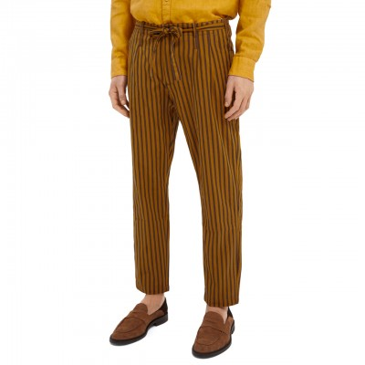 Striped Cotton Chino With...