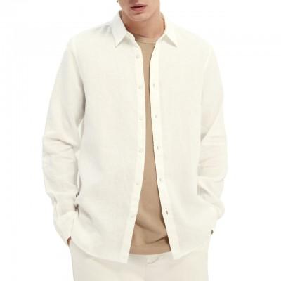 Garment-Dyed Linen Shirt,...