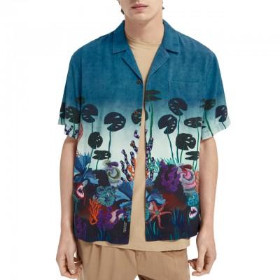 Camicia Hawaiana In Lyocell...