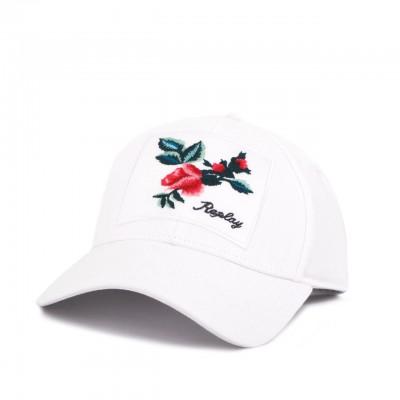Rose Label Baseball Cap, White