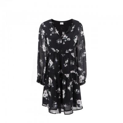 Floral Fantasy Dress, Black