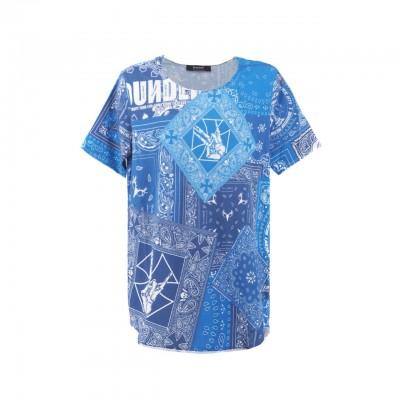 Bandana Blue Iwl T-Shirt, Blu