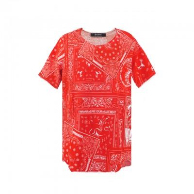 Bandana Red Iwl T-Shirt, Rosso