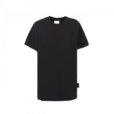 T-Shirt Jersey In Modal, Nero