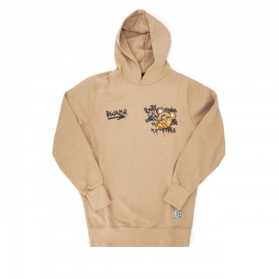 Back Graphic Hoodie, Marrone