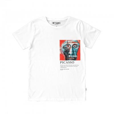 Facing T-Shirt, Bianco