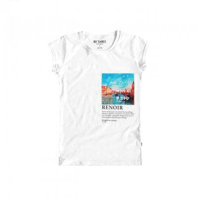 Rivus Art T-Shirt, Bianco