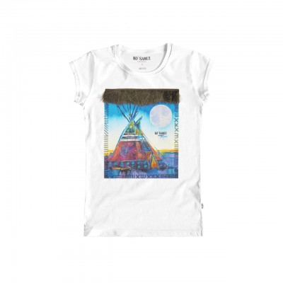 Blue Tent Feather T-Shirt,...