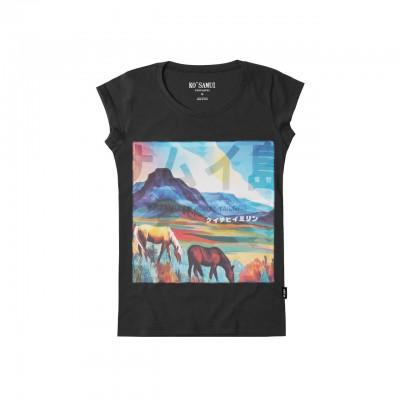 Glaring Stitch T-Shirt, Nero
