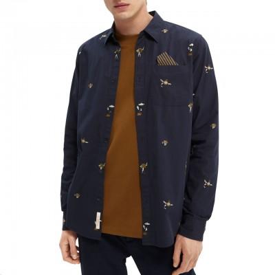 Camicia In Popeline, Blu