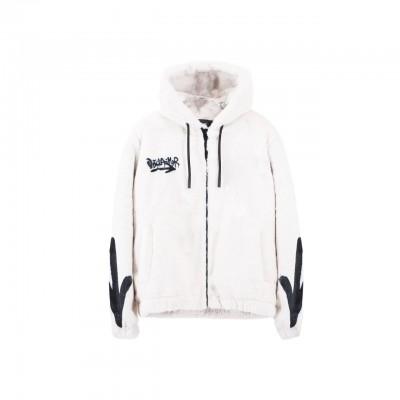 Eco-Fur Jacket, Bianco