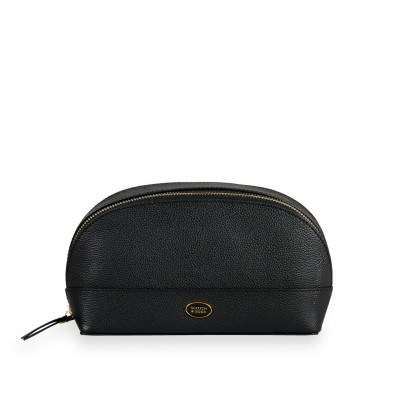 Leather Toiletry bag, Black
