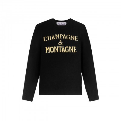 Crewneck Sweater, Nero