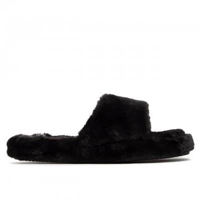 Fur Slide Pantofole, Nero