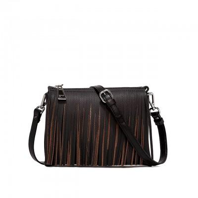 Two Shoulder Bag, Black