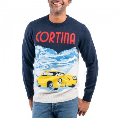 Crewneck Sweater Cortina, Blu