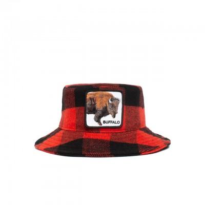 Buff Buffalo Bucket Hat, Red