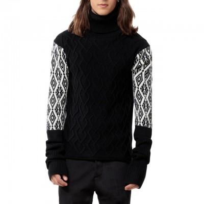 Turtleneck Sweater, Black