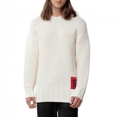 Pullover Girocollo, Bianco