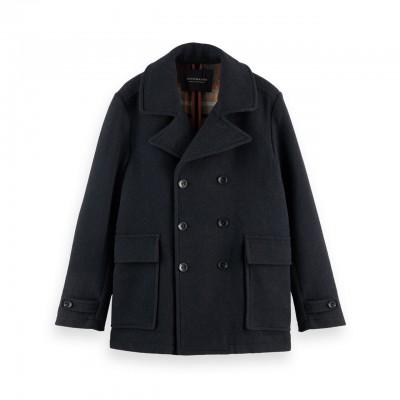 Wool Blend Coat, Black