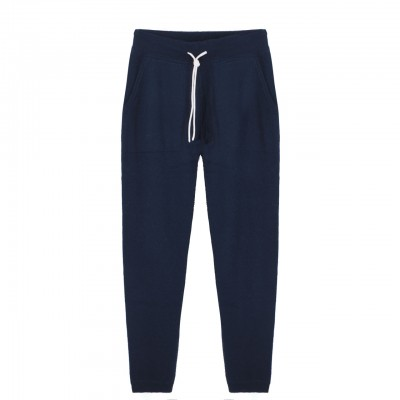 John Knitted Pants, Blue