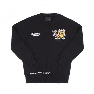 Printed Sweater, Black