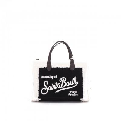 Sherpa Fabric Bag, Black