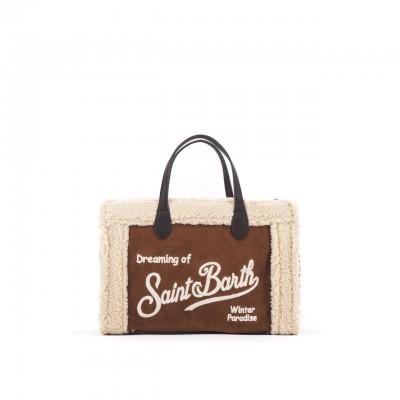 Sherpa Fabric Bag, White