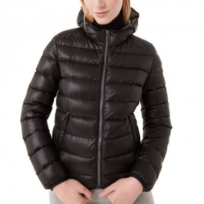 Down Jacket With Fixed...