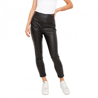 Pantalone In Pelle Eco, Nero