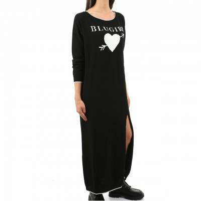 Knit Dress With Logo, Black