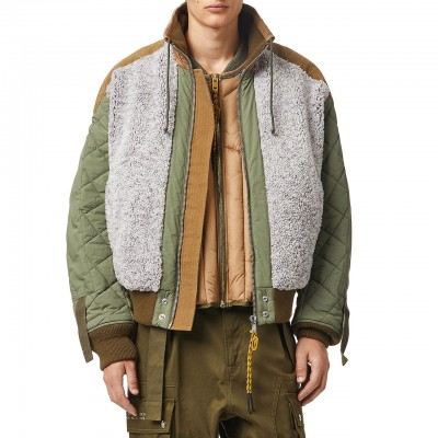 W-Pow-Teddy Jacket, Green