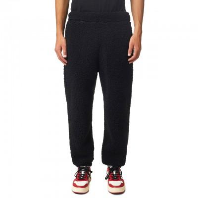 P-Calton-Teddy Trousers, Black