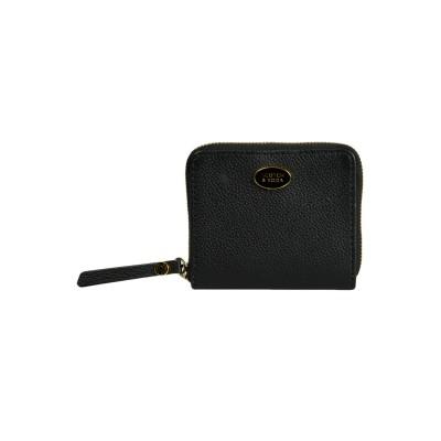 Leather Zip Wallet, Black