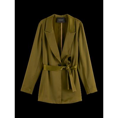 Pajama blazer with belt, Green