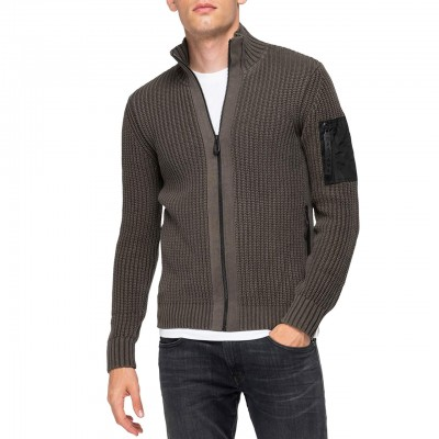 Pullover With High Neck And...