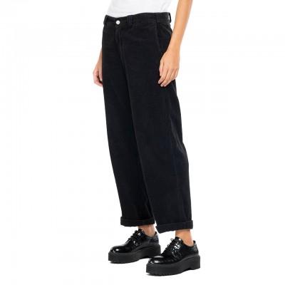Pantalone A Costine, Nero