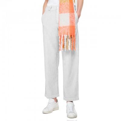 Pantalone A Costine, Bianco